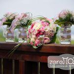 Brautstrauß und Brautjungfern-Sträußchen